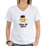 Class of 2024 Graduate (lio Women's V-Neck T-Shirt