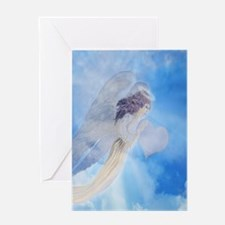 Angel Carrying Love Greeting Cards
