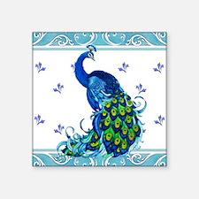 Peacock Swirl Sticker