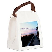 Beach Sunset Canvas Lunch Bag