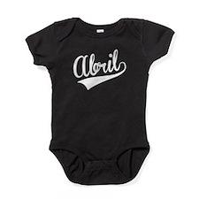 Abril, Retro, Baby Bodysuit