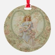 Angel Carrying Roses Ornament