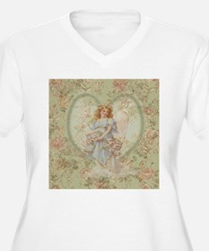 Angel Carrying Roses Plus Size T-Shirt