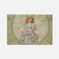Angel Carrying Roses Magnets