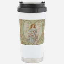 Angel Carrying Roses Travel Mug