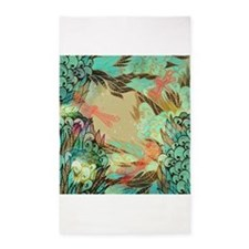 Colorful Dragonflies 3'x5' Area Rug