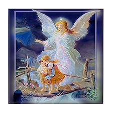 Guardian Angel and Children Crossing Bridge Tile C