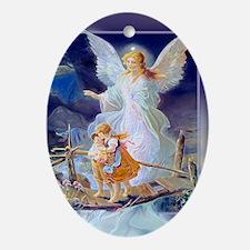 Guardian Angel and Children Crossing Bridge Orname