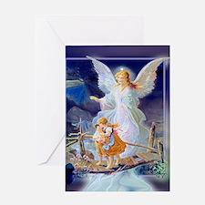 Guardian Angel and Children Crossing Bridge Greeti
