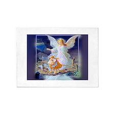 Guardian angel with children crossing bridge 5'x7'
