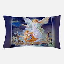 Guardian angel with children crossing bridge Pillo