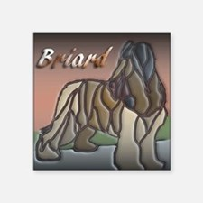 "Briard Square Sticker 3"" x 3"""