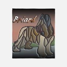 Briard Throw Blanket
