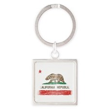 Distressed California Republic State Flag Keychain