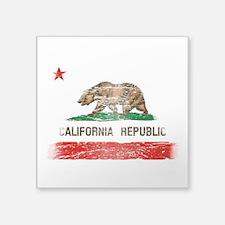 Distressed California Republic State Flag Sticker