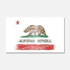 Distressed California Republic State Flag Car Magn