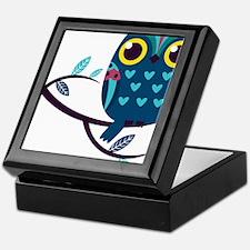Dark Teal Owl Keepsake Box