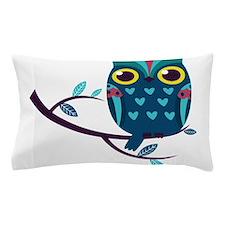 Dark Teal Owl Pillow Case