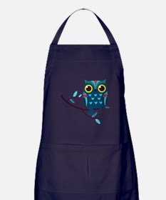 Dark Teal Owl Apron (dark)