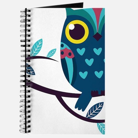 Dark Teal Owl Journal
