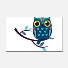 Dark Teal Owl Car Magnet 20 x 12