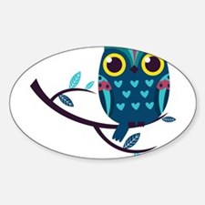 Dark Teal Owl Decal