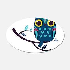 Dark Teal Owl Wall Decal