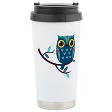 Dark Teal Owl Travel Mug