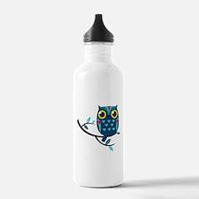 Dark Teal Owl Water Bottle