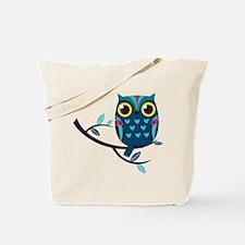 Dark Teal Owl Tote Bag
