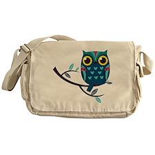 Dark Teal Owl Messenger Bag