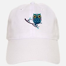 Dark Teal Owl Baseball Baseball Baseball Cap