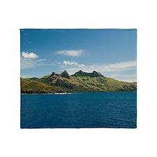 Waya island, Fiji Throw Blanket