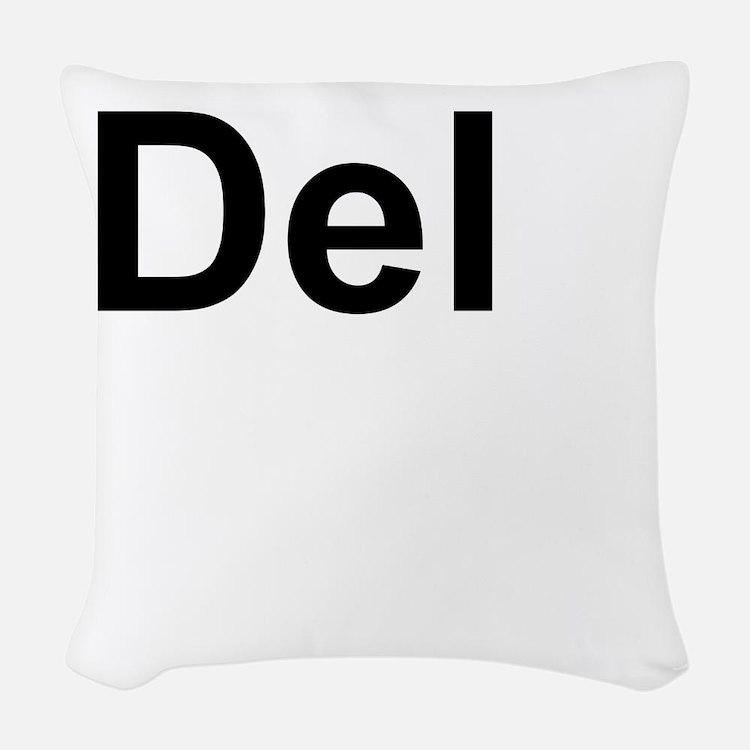 Dele (Delete) Keyboard Key Woven Throw Pillow