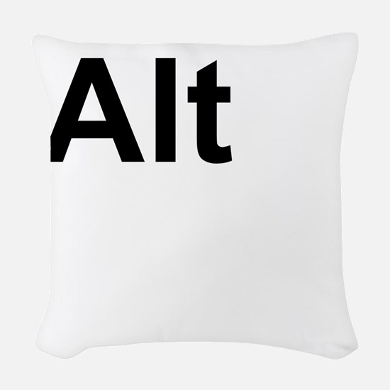 Alt (Alternate) Keyboard Key Woven Throw Pillow