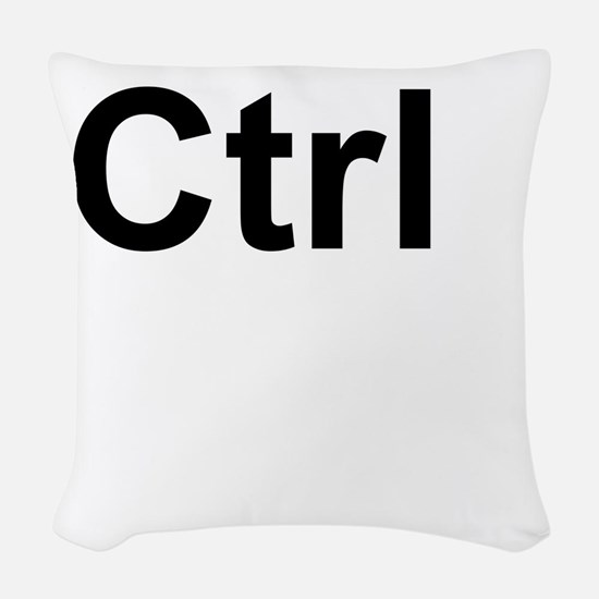 Ctrl (Control) Keyboard Key Woven Throw Pillow