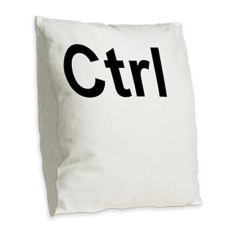 Ctrl (Control) Keyboard Key Burlap Throw Pillow