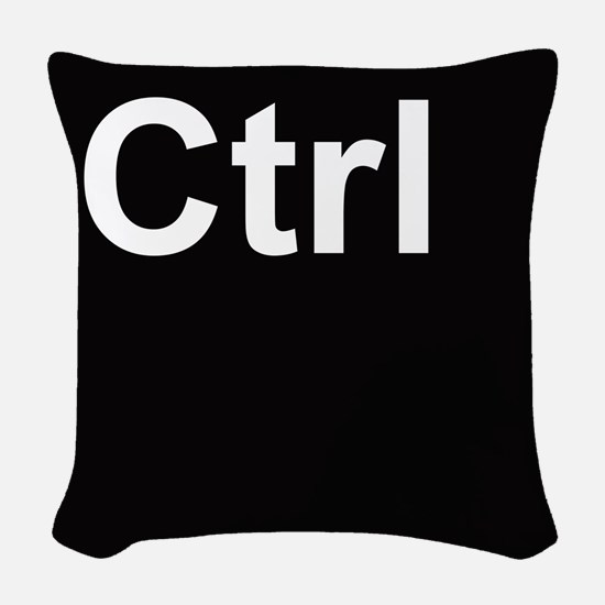 ctrl2 Woven Throw Pillow
