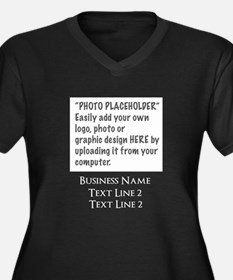 Photo Placeholder 10 x 8 and Logo Plus Size T-Shir