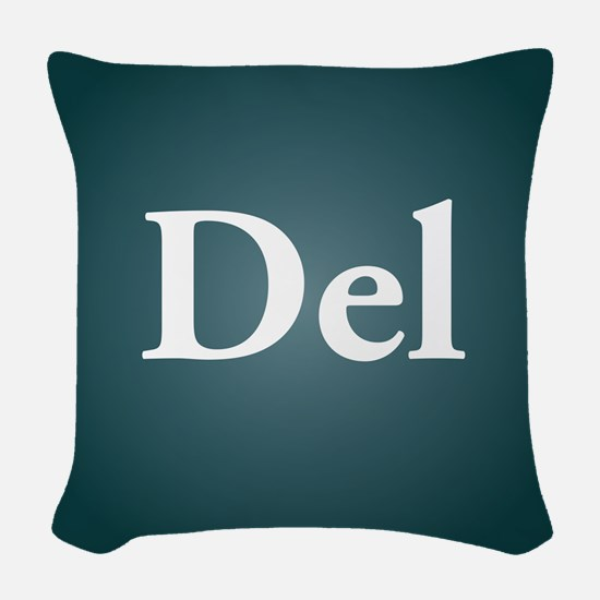 del3 Woven Throw Pillow