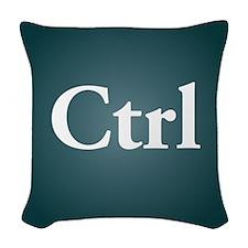 ctrl3 Woven Throw Pillow