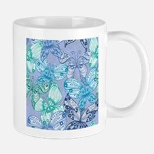 Colorful Blue Butterflies Mugs