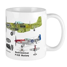 P-51 Mustang Burdick Father Son Ace Small Mug Small Mugs
