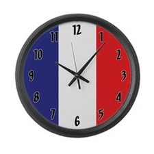 Flag of France Large Wall Clock