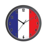 France flag Wall Clocks