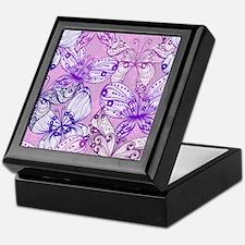 Purple Butterflies Keepsake Box