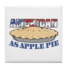 American As Apple Pie Tile Coaster