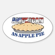 American As Apple Pie Oval Decal
