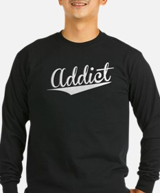 Addict, Retro, Long Sleeve T-Shirt