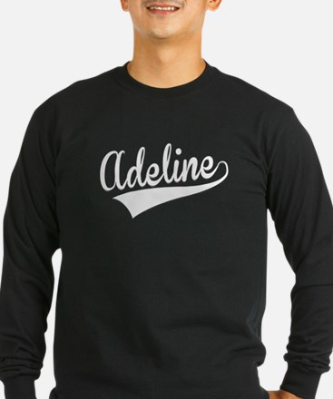 Adeline, Retro, Long Sleeve T-Shirt